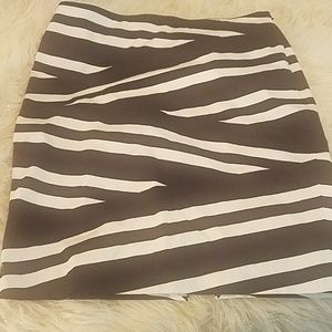 White House/Black market striped skirt